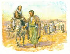 Joshep with Mary to Nazareth