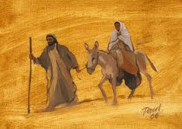 Joseph & Mary Travelling to Bethlehem