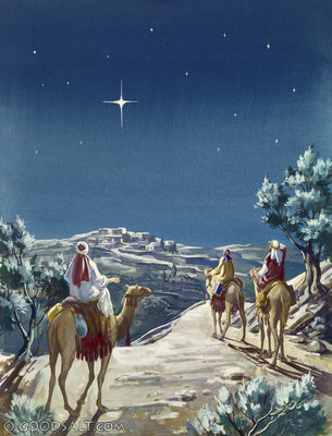 Wise men visit baby Jesus