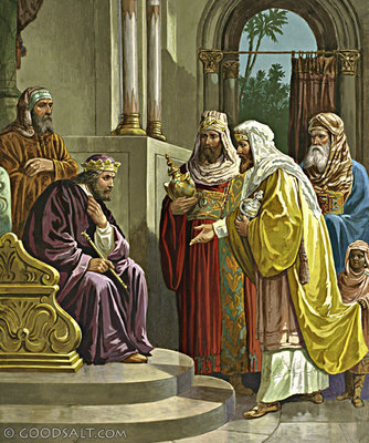 Wise men meet king Herod